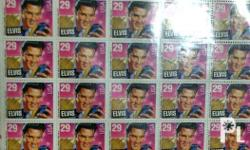 USA 1992 issue Elvis Presley stamps, uncut MINT.