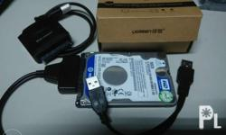 Use your extra harddrive externally. For laptop