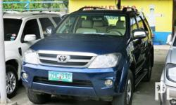 Vehicle Options 2007 Toyota Fortuner VVTi Year: 2007