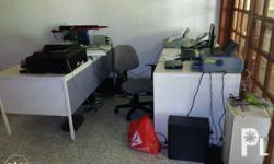 Used office table for sale for only 1,300 per piece.