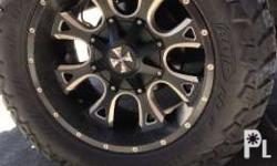 Used cali offroad rims 20x10 5x127 bolt pattern for