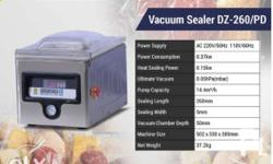 Vacuum Sealer Table Top Specification: Voltage: 220 V