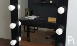 Brand new vanity mirror comes in white and black color,