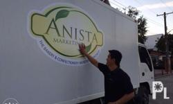 We offer vehicle sticker wraps (glossy, matte,
