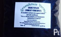 An excellent ORGANIC FERTILIZER made by worms for your