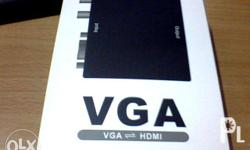 Display your VGA desktop or laptop to your HDMI TV or
