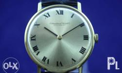 Authentic vintage watches: 1. IWC 18K gold, mechanical