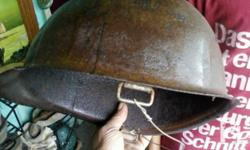Deskripsiyon u.s. military steel hat w /no rim and chip
