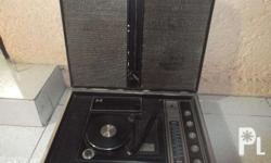 vintage solid state radio stereo phonograph working no