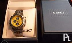 This is a brand new vintage Seiko Chronograph from the
