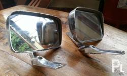 Selling set of vintage side mirrors for classic look.
