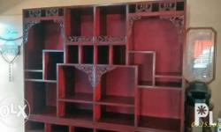 For sale solid narra chinese display cabinet (vintage)
