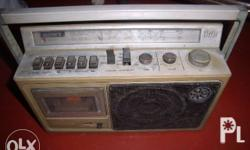 sony radio cassette vintage made and bougth in Japan