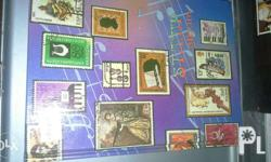 Vintage stamps 284pcs international, asia,europe,middle