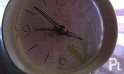 vintage winding alarm clock, made in USA. Height