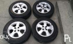 4pcs Mags & Tire Stock vios mags wrapped with Yokohama