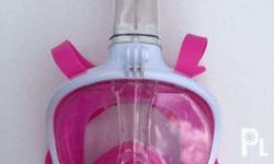 Full Face Snorkle Mask Color: Pink 2 pcs available on