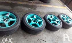 volk rays mags and tires size 15 tires 90% (2 pcs 50