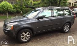 Model: XC90 Year: 2005 Mileage to Date: 87T km Service