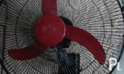 For sale! wall fan big astron Black&red good condtion