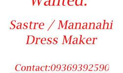 Atleast 2 years experience in making dress. Will work