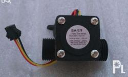 Water flow sensor is applicable for water heater or as