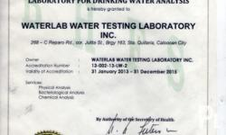 Waterlab water testing laboratory inc ? Quezon City
