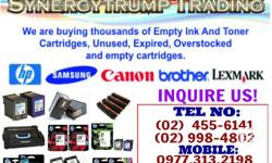 Empty INK CARTRIDGES and TONERS will be converted to