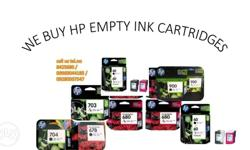 we buy hp empty ink cartridge at hig price we accept