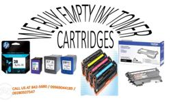 we buy hp empty ink toner cartridges canon, accept