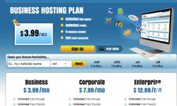 Web hosting for your personal or business website. Only
