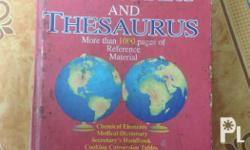 Webster's Dictionary and Thesaurus also includes