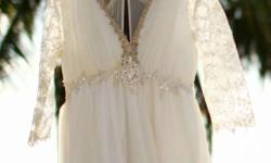 Chiffon dress Empire cut Vail included in very good