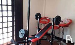 Weight bench with Plates Full body workout made simple.