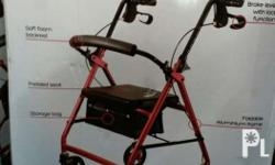 Wellness plus rollator walker With padded seat and