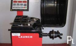 launch wheel balancer easy to use accurate 1 year