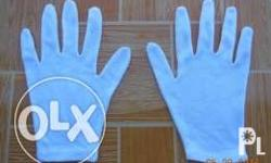 Quinn Garments - White Cotton Gloves Size Available