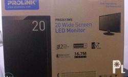 """For Sale: Brand new Prolink 20"""" Widescreen LED Monitor"""