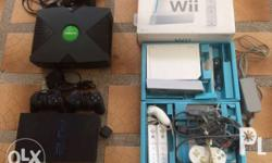 1) Wii; Unit w/ box; Working condition; Missing battery