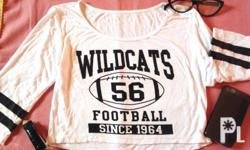 White Wildcats crop top Never been used