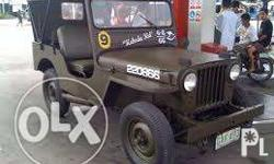 Complete documents willys type sasakyan nlng 5k engine