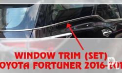 Window Trim (Chrome) for Fortuner 2016-2018 - Stick on