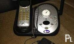 wireless, black, with answering machine 110 volts,