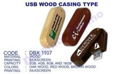 Wood Casing Swivel Type USB Flash drives with Logo