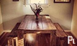 Solid wood dining table. We have different kinds of