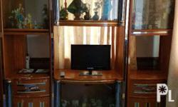 3-piece display cabinet (contents not included) cabinet
