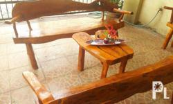 Wood table and chairs made from the finest mahogany