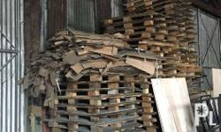 Wooden pallets for storage, stacking goods or furniture