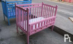 Wooden Baby Crib - Foldable and Adjustable flooring