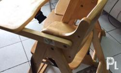wooden baby feeding chair imported from japan w/o